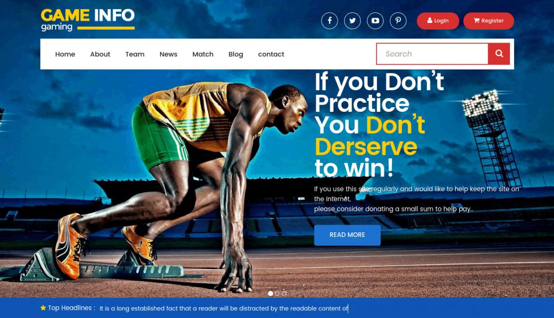 Sport template HTML5